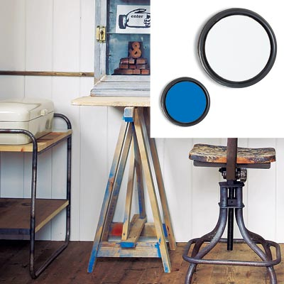 rustic workspace with low voc paint
