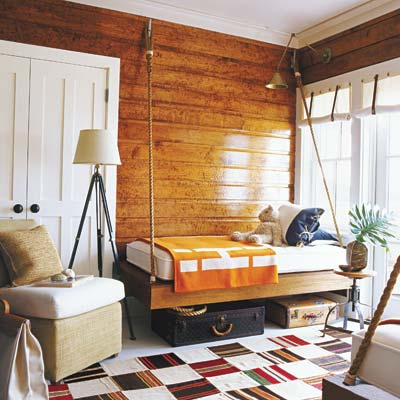 cabin style bedroom