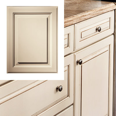 taupe kitchen with elaborate cabinetry