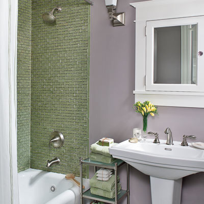 sage and lavender bathroom