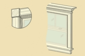an illustration of a window that highlights all the interior trim