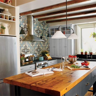 open kitchen layout with island