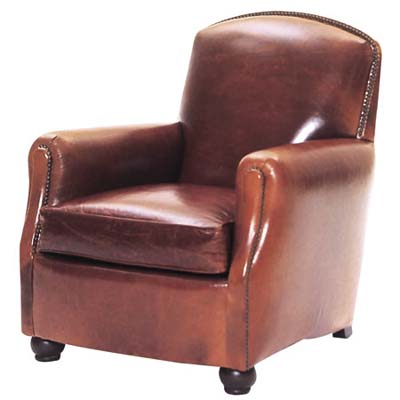 martene club chair with a lot of detailed construction