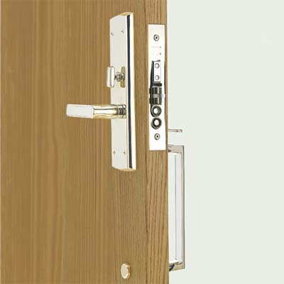 a mortise lockset installed in an interior door