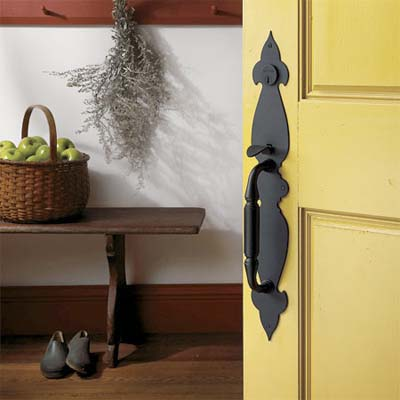 forged brass folk colonial entry set design