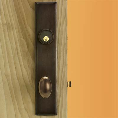forged brass with oil rubbed bronze finished knob style handle
