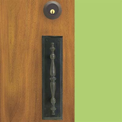 cast brass with a lacquered oil-rubbed bronze finish pull style handle