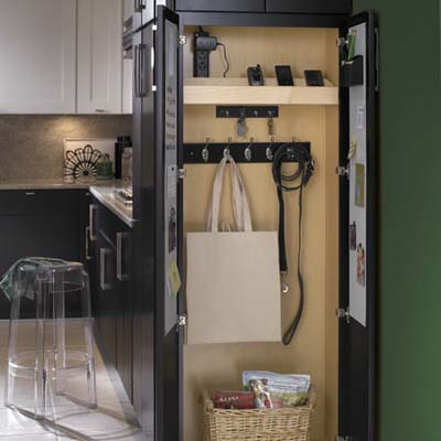 kitchen cabinet organizer for personal items