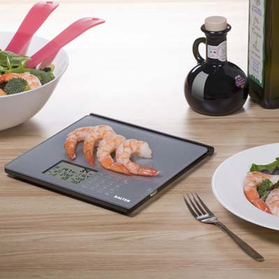 Food scale with shrimp
