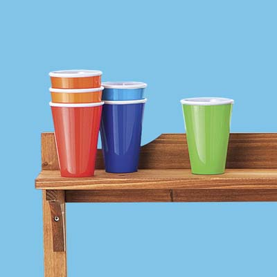 colorful nonbreakable tumblers