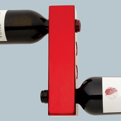 vynebar wine bottle holder holding two red wine bottles