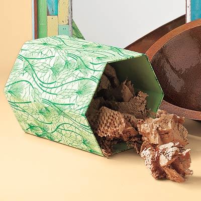 recycled fabric wastebasket
