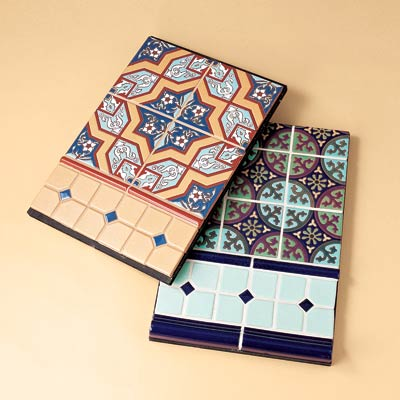 recycled patterned ceramic tiles