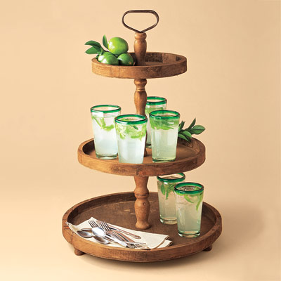 recycled tiered serving tray