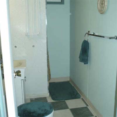 outdated teal bathroom