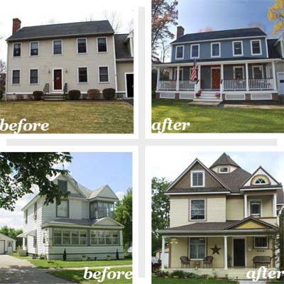remodeled house exteriors