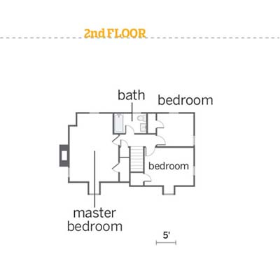 floorplan for second floor of 2010 reader remodel winner house