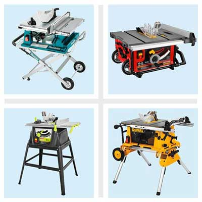 four portable table saws