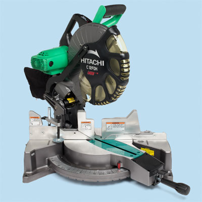 compound miter saw by Hitachi to compare for tool test