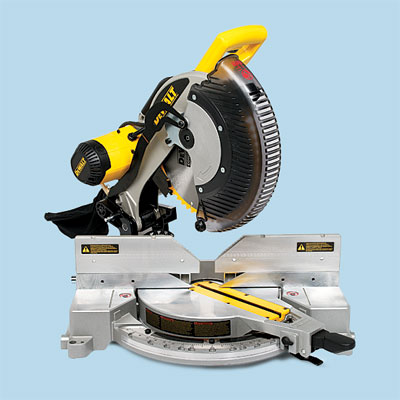 compound miter saw by DeWalt to compare for tool test