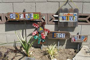 homemade garden markers