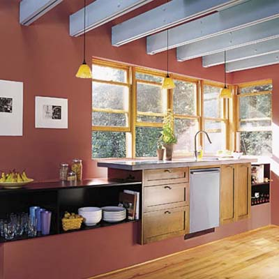 kitchen in eco-home