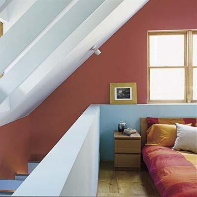 bedroom in eco-home