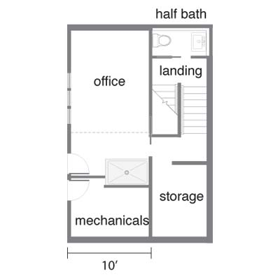 eco-house floor plan