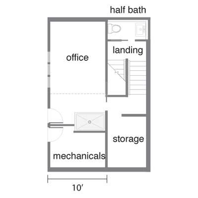 eco-house floor plan