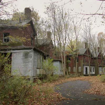 vacant officers' houses in abandoned fort
