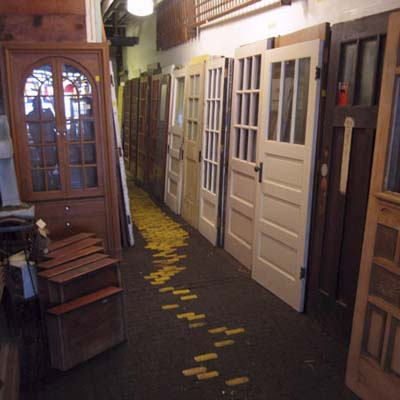 front doors displayed in Guilded Salvage