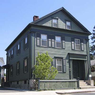Lizzie Borden Murder House (Greek Revival w/ Green Vinyl Siding)