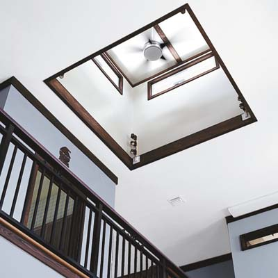 energy-saving fan in cupola of Key Largo eco-friendly house