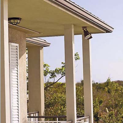 porch with deep eaves in Key Largo eco-friendly house