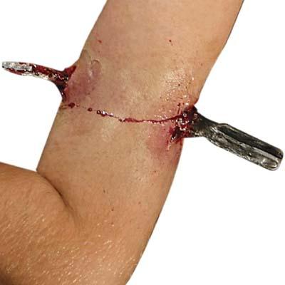 screwdriver through arm halloween costume