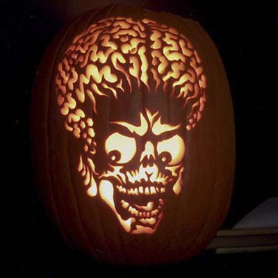 Mars Attacks carving by JP of JamminPumpkins.com