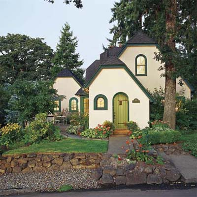 exterior of 1927 cottage with addition built on