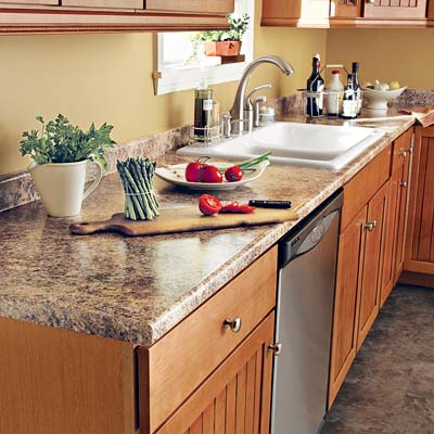 example of laminate used on countertops