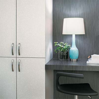example of laminate used as wall paneling