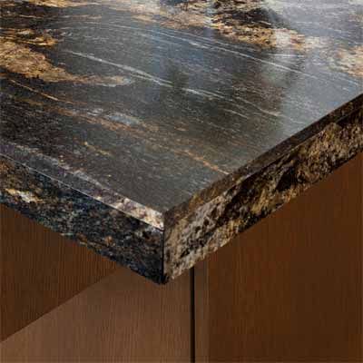 example of laminate countertop with beveled edging