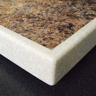 example of laminate countertop with solid surface edging