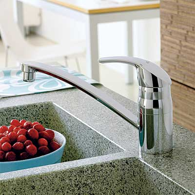 straight spout style kitchen faucet