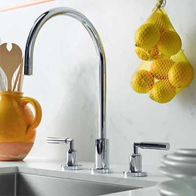 gooseneck spout style kitchen faucet