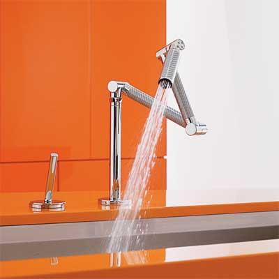 articulating spout style kitchen faucet