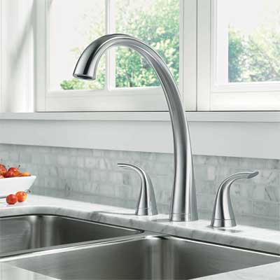 transitional style kitchen faucet