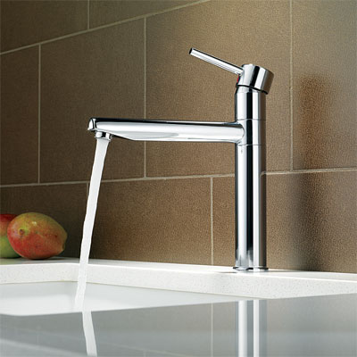 contemporary style kitchen faucet