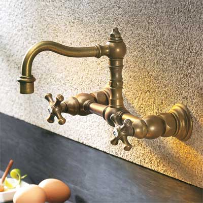 period-look style kitchen faucet