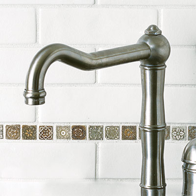 kitchen faucet with Satin Nickel finish