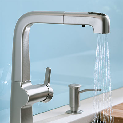 kitchen faucet with Stainless Steel finish