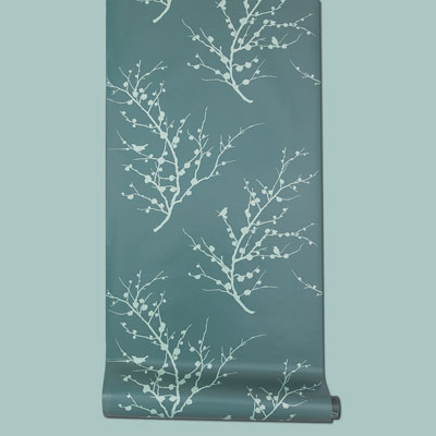 peel-and-stick vinyl Edie Spanish Moss wallpaper